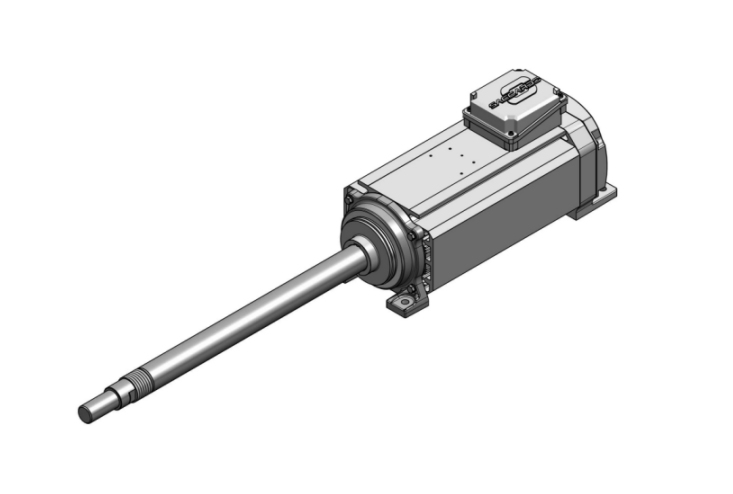 electrospindles with elongated shaft for multi-cutting